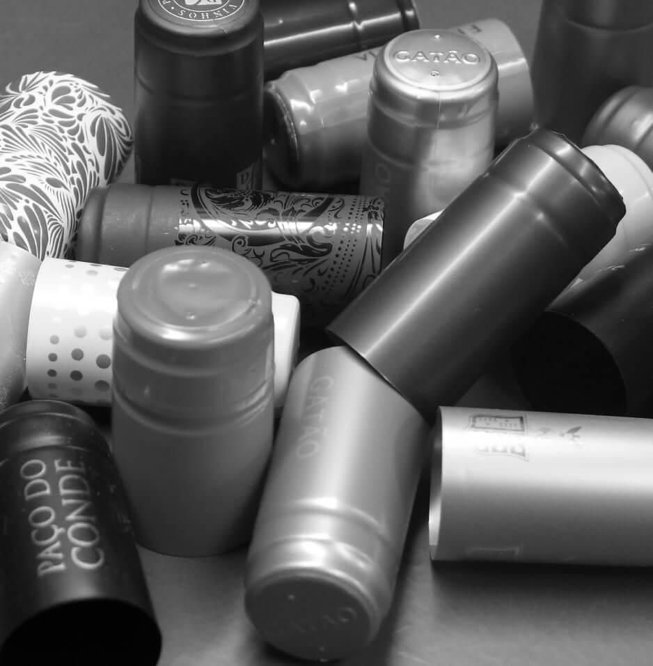 Cápsulas garrafas ALC PET PVC PLA